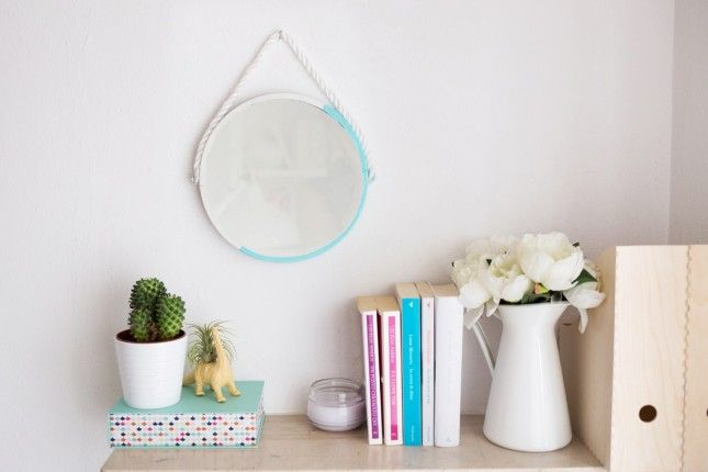 Give your home the DIY touch with this nautical rope hanging mirror.
