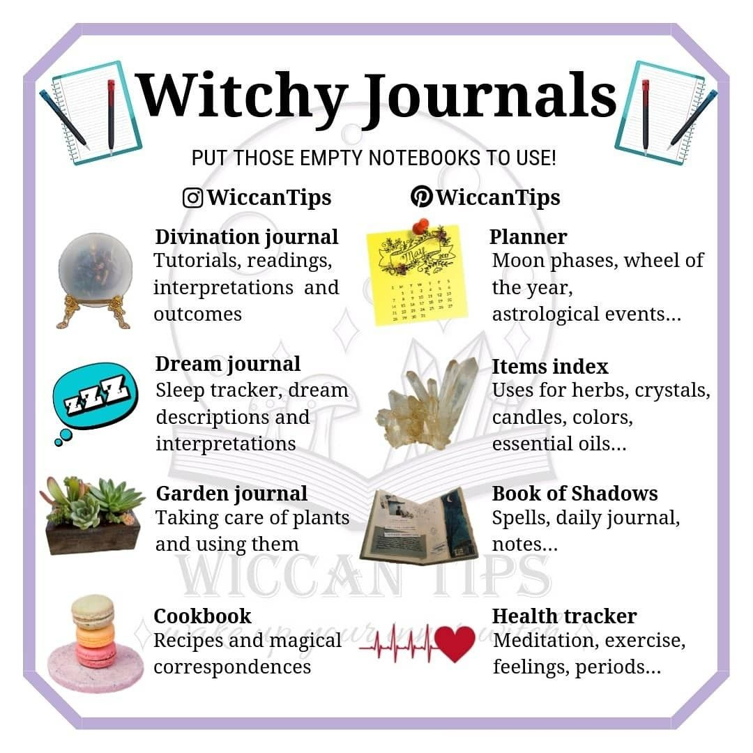 Witchy Uses for Notebooks #greenwitchcraft