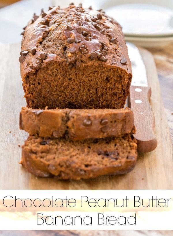 Chocolate Peanut Butter Banana Bread | i heart eating