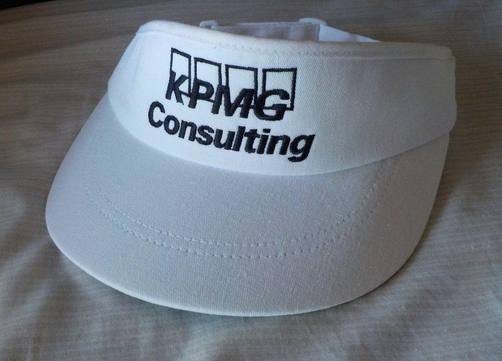 KPMG CONSULTING OLDER TOUR STYLE GOLF VISOR HIGH CROWN HAT TITLEIST BACK  STRAP (eBay Link) 857491246e2