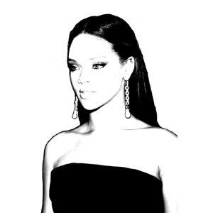 Disegno di Rihanna da colorare
