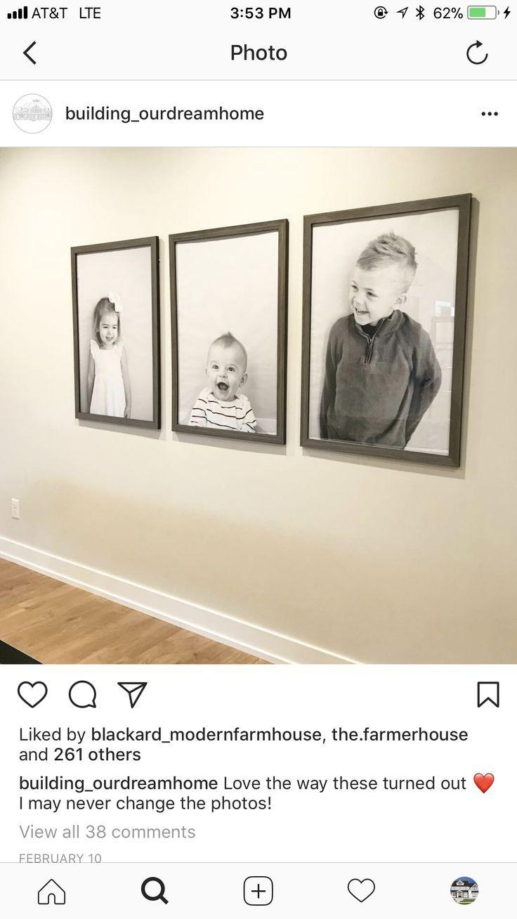 Einfache Fotos und einfache Rahmen für Kinderfotos. Lieben Sie diesen Blick #hallwaydecorations