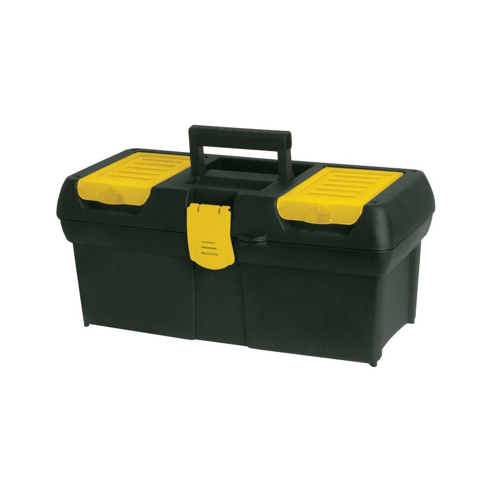 Stanley 16 In Tool Box With Lid Organizers Black Tool Box Lid