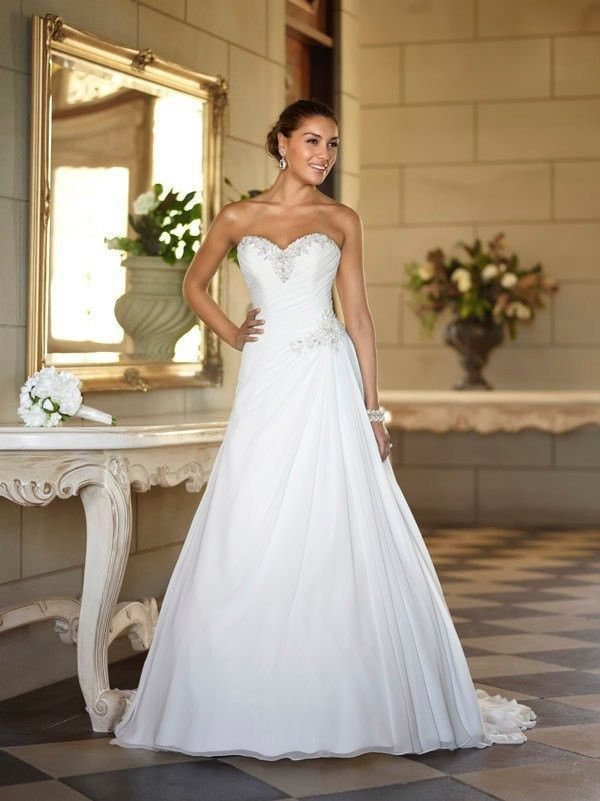 Sweetheart Chiffon Beach Bridal Dress at Bling Brides Bouquet online ...