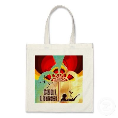 City Bag ``Retro Flower Chill Lounge Abstract´´ http://www.zazzle.com/city_bag_retro_flower_chill_loungeabstract-149151463578582834