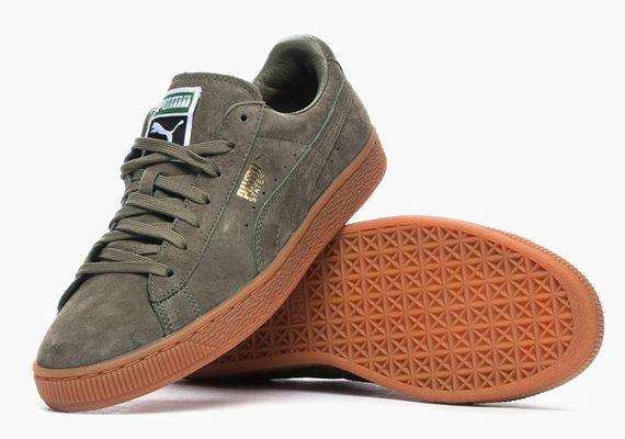 chaussure puma kaki homme