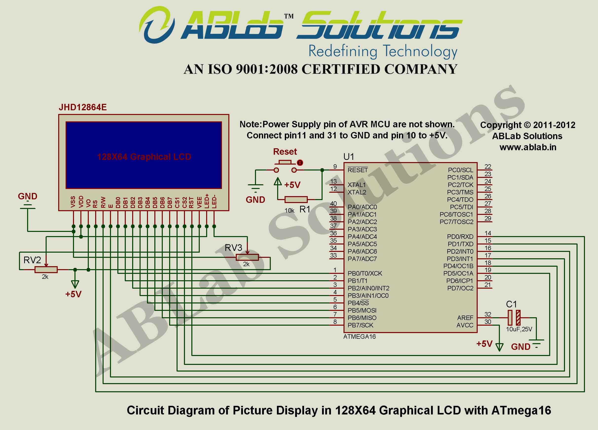 Picture Display In 128x64 Graphical Lcd With Avr Atmega16 Microcontroller
