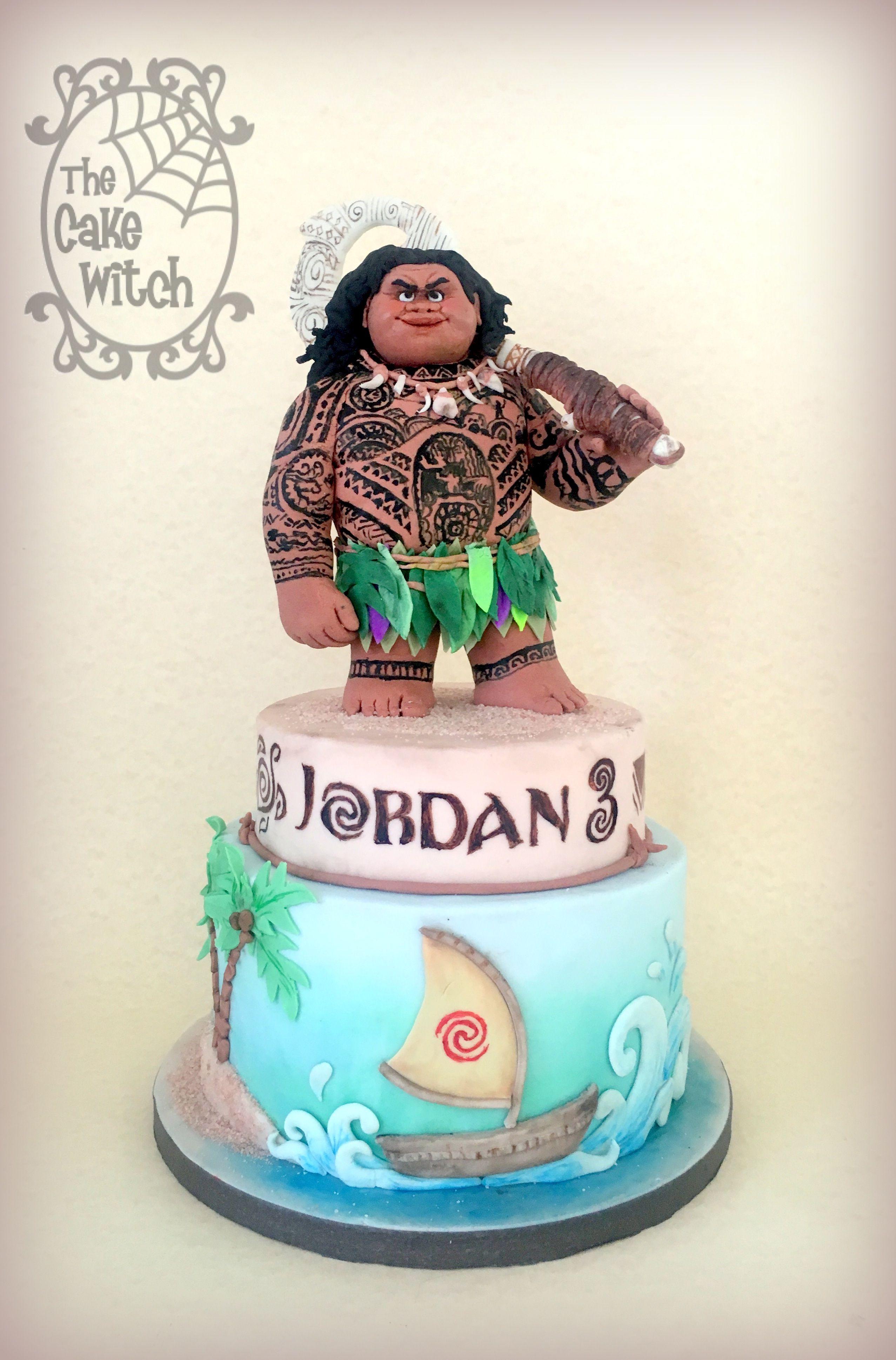 Maui Cake Moana Movie The Cake Witch My Birthday Cakes