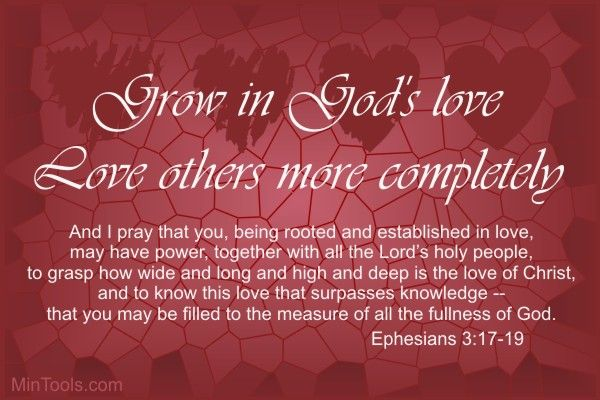 """Let's remember that """"We love because he first loved us"""" (1 Jn. 4:19)."""