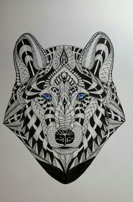 Spirit Wolf | Adult fun, Color, Zentangle