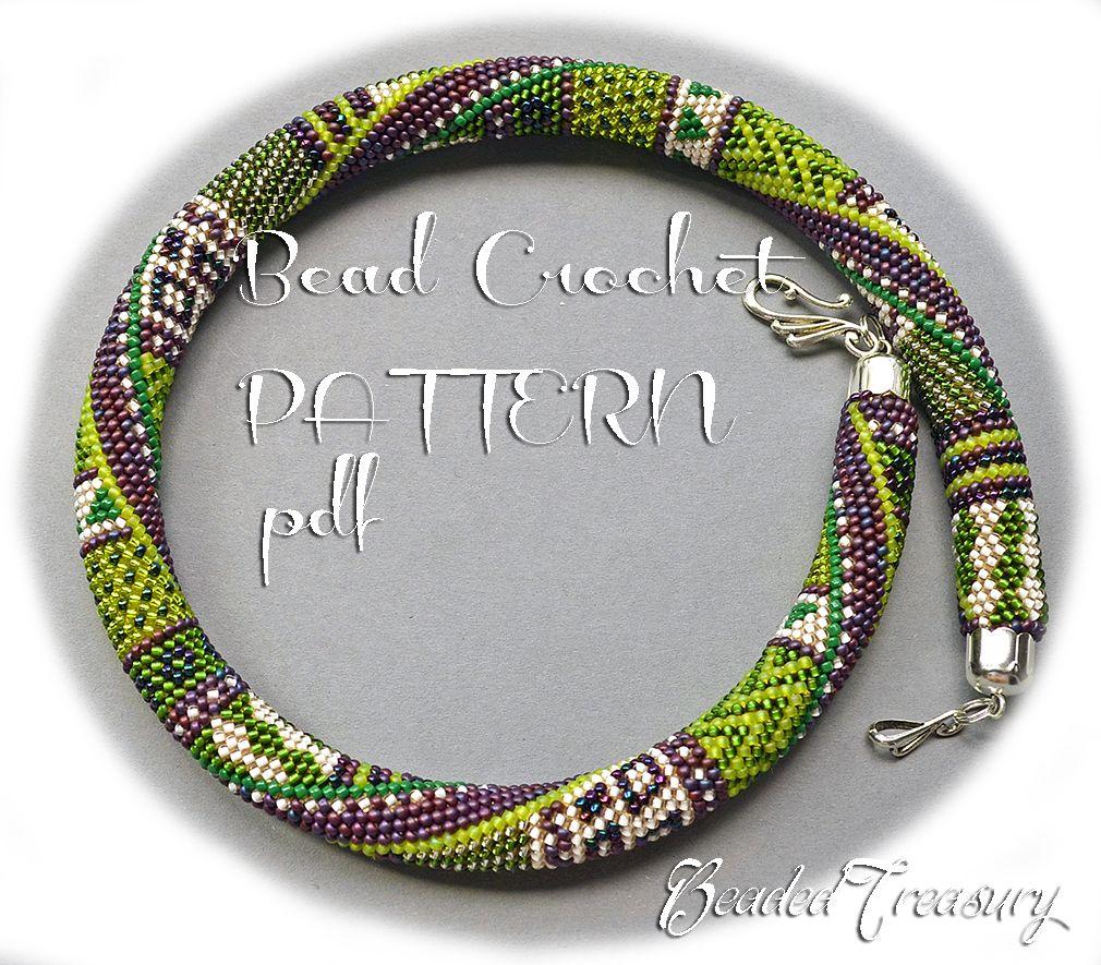 SUMMER IN PROVENCE Bead crochet pattern Necklace pattern Beaded ...