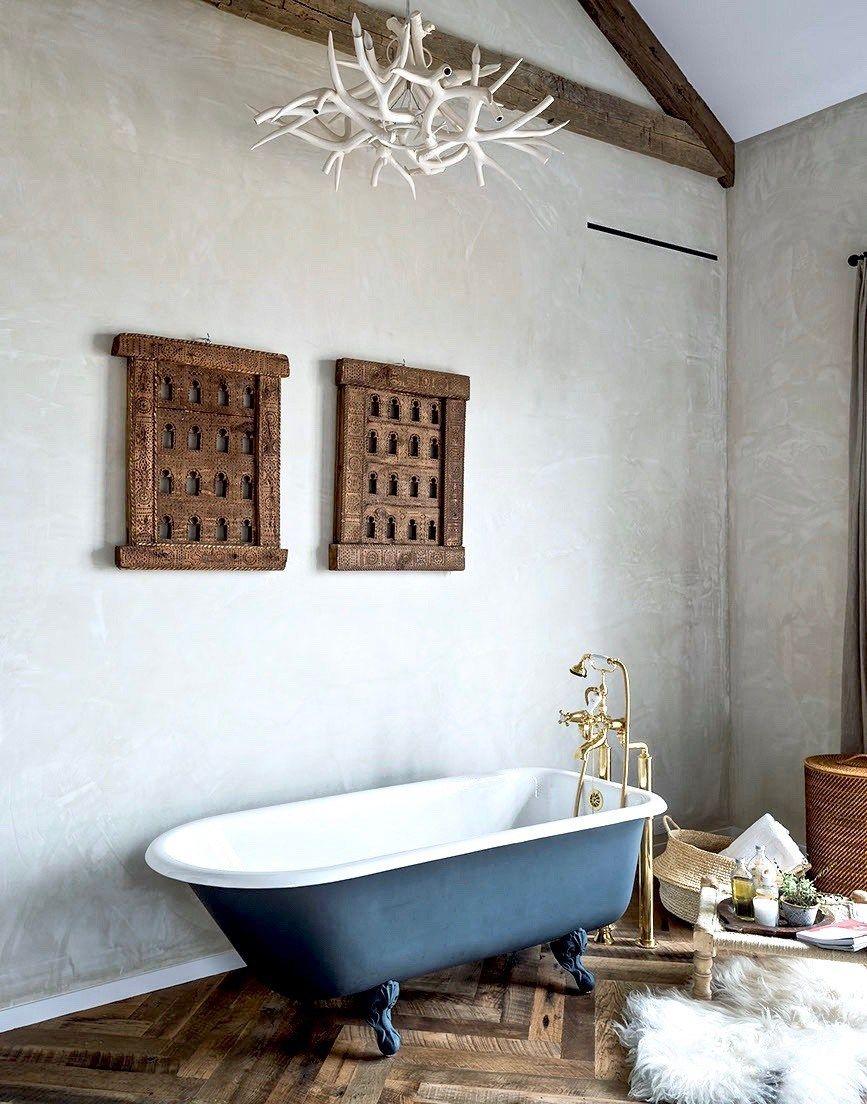 Farm Style Bathrooms - Hand Painted Terracotta Tiles | Farm style ...