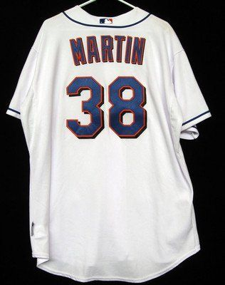 separation shoes 53862 e7e3a 2009 New York Mets Tom Martin #38 Game Used White Spring ...