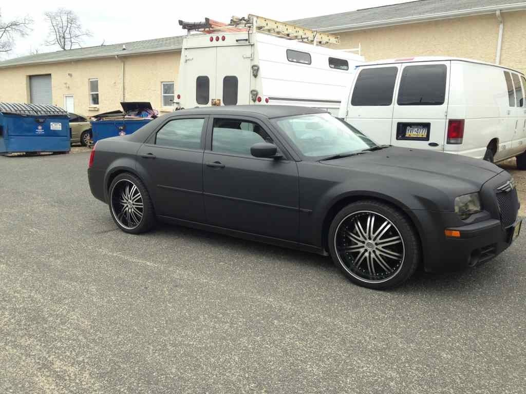 Matte Black Plasti Dip Sure Why Not Chrysler 300c