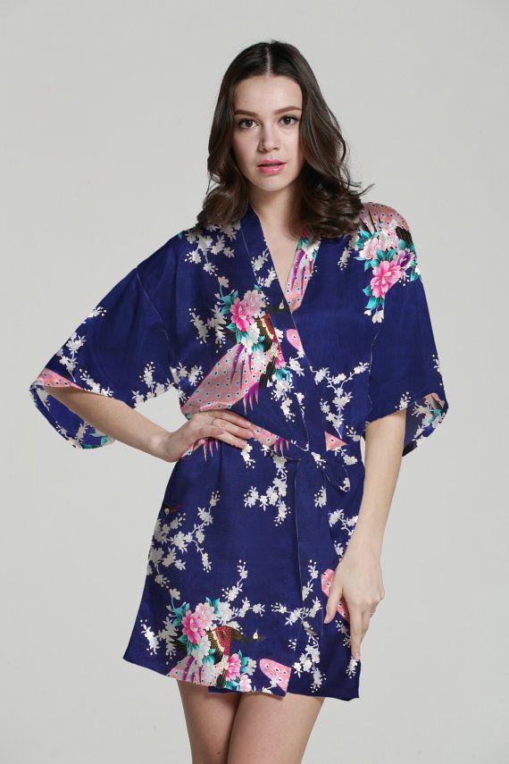 0443b139e3 Baby kimono robe kimono maxi dress silk kimono dressing gown satin kimono  robe japanese kimono bathrobes wedding party gift idea bathrobe