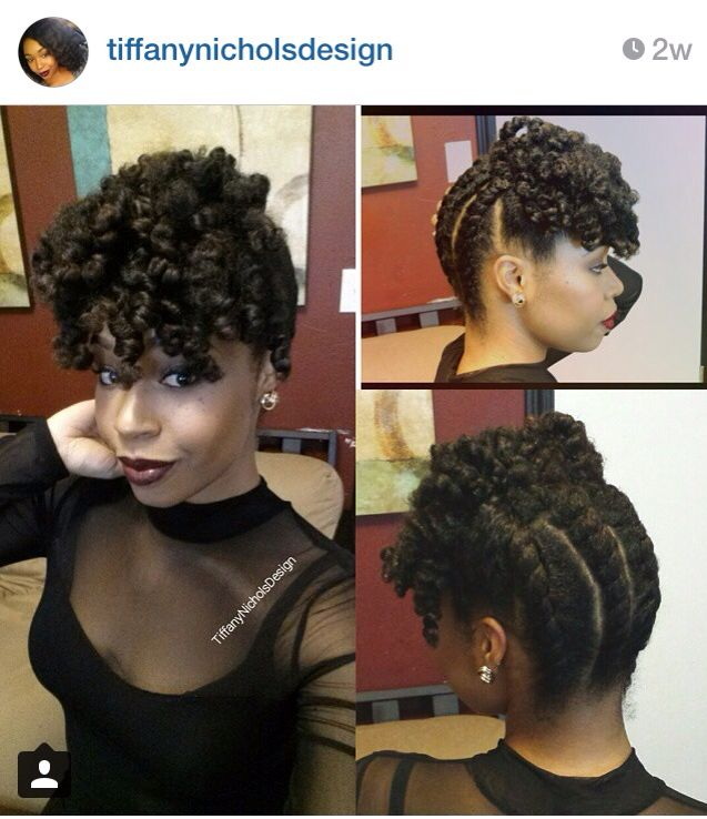 Back To Front Chunky Two Strand Twist Curly Bang Twist In 2019