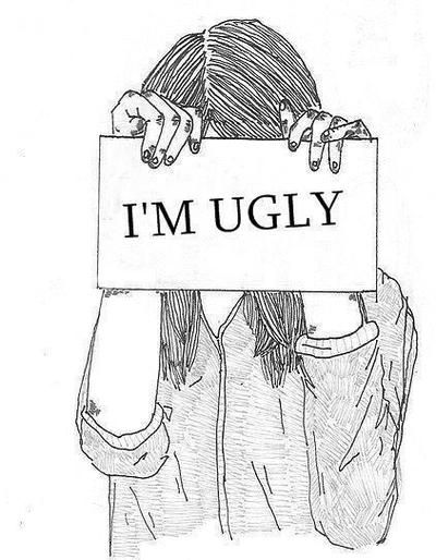 ugly girl drawing sad - Google Search