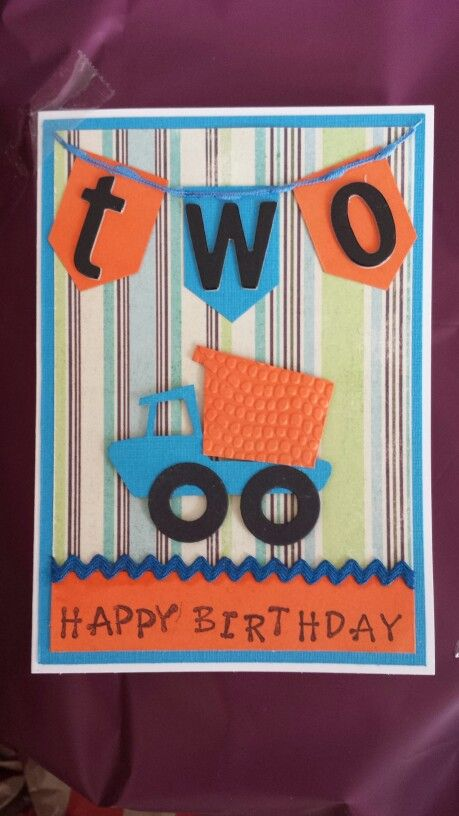 Two Year Old Birthday Card 4 Boy Cricut Cards Happy