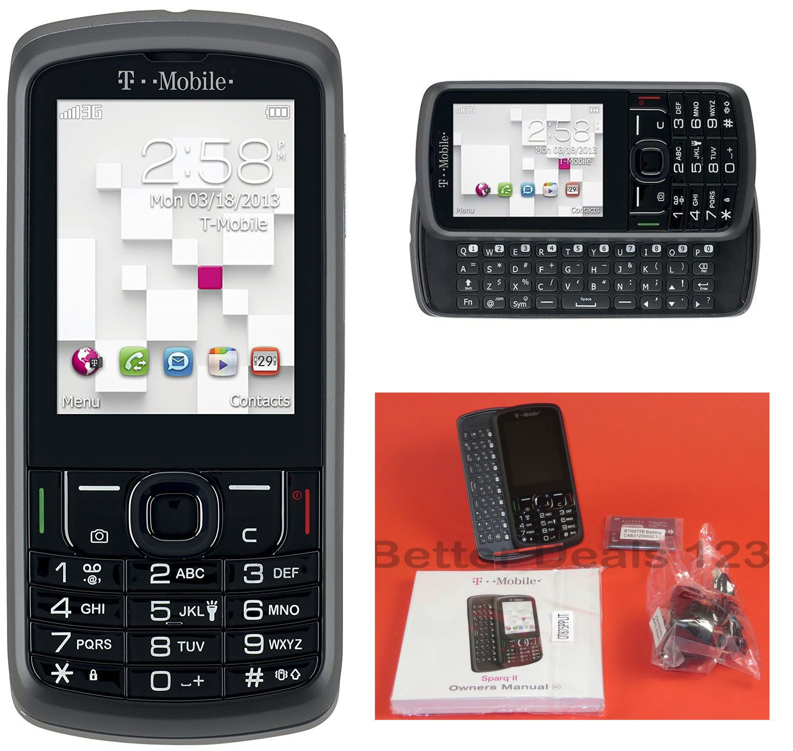 new post new alcatel sparq ii 2 unlocked t mobile slider 3g cell rh pinterest com T-Mobile Sparq Earhone Part T-Mobile SPARQ Cases