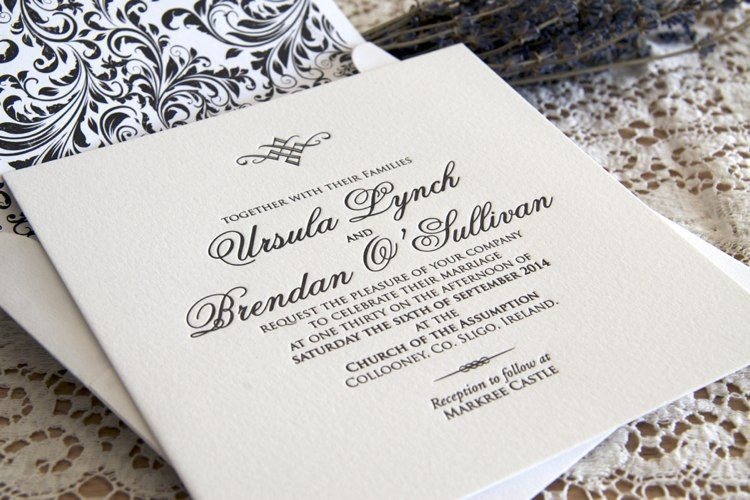 Royal invitation with envelope liner Magva Wedding Pinterest