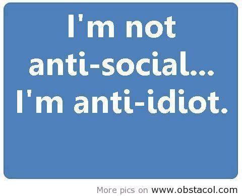 Im not anti social