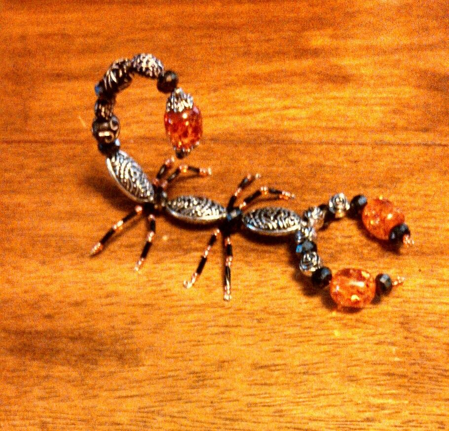 Beaded scorpions. I can make these guys any color u like. $15 ...