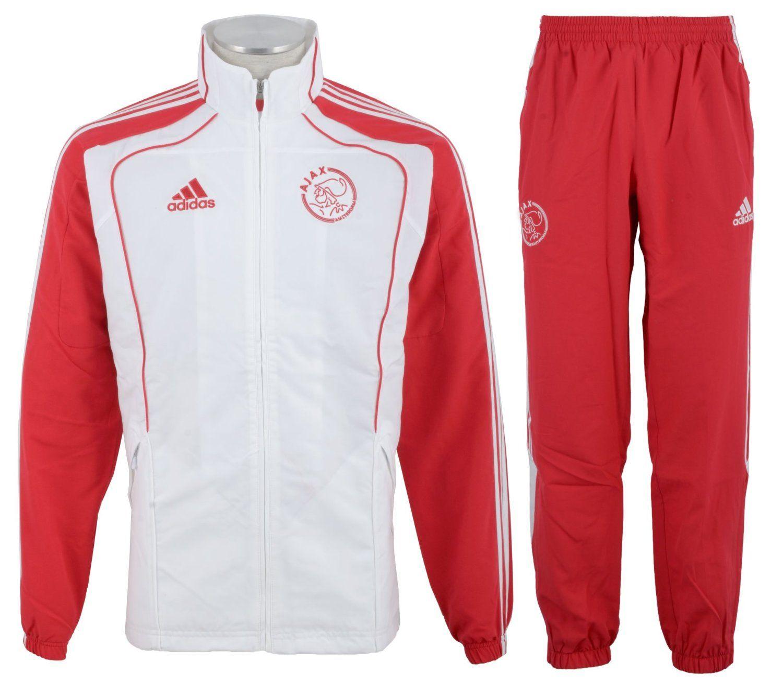Adidas Ajax Presentation Tracksuit Men's: Amazon.co.uk: Sports & Outdoors