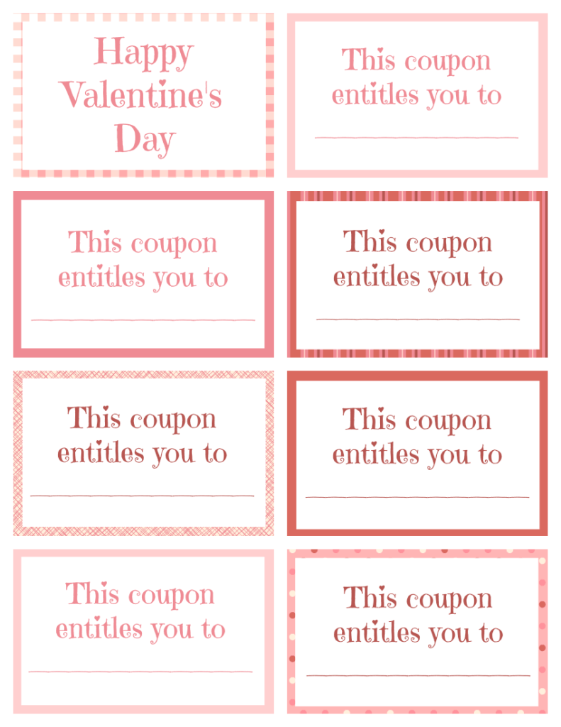 Printable Valentine Coupon Book Blank | Printables | Pinterest ...