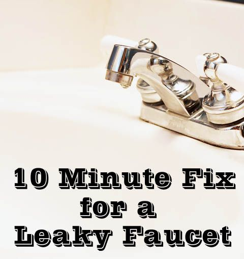 how to fix a leaky bathroom faucet