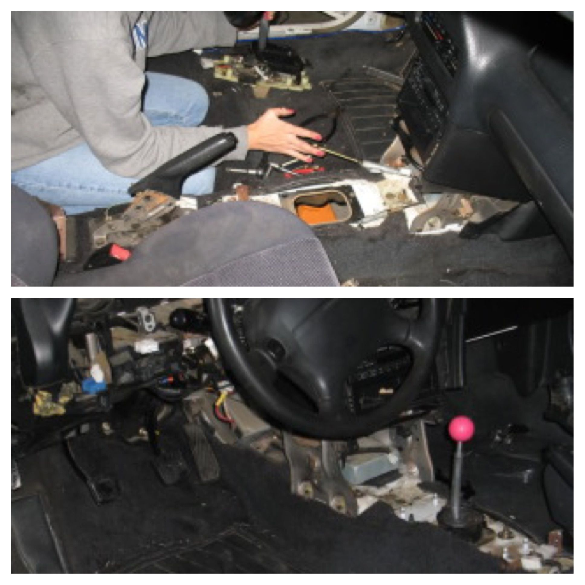 '94 Mazda MX3 GS -- Swapping out the automatic transmission for a manual. '