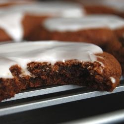 Frosted Molasses Cookies