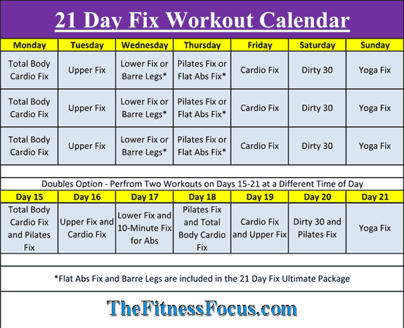 day fix workout schedule  portion control diet sheets also fitness rh pinterest