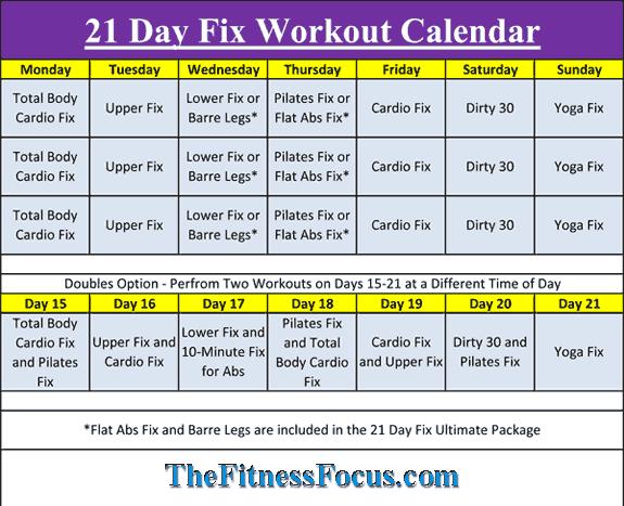 Gut gemocht 21 Day Fix Workout Schedule & Portion Control Diet Sheets  GD08