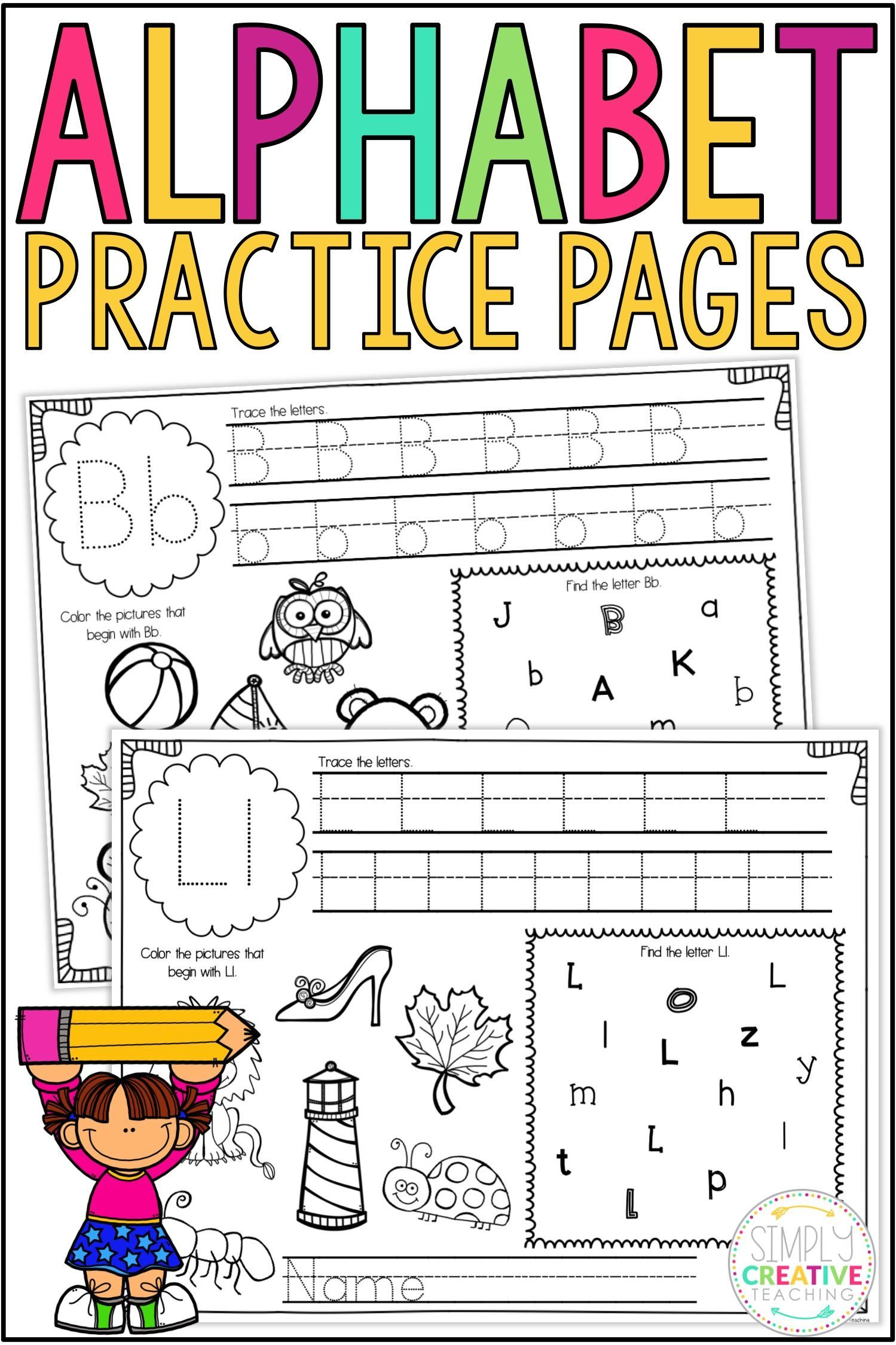 Alphabet Tracing Worksheets Amp Printables
