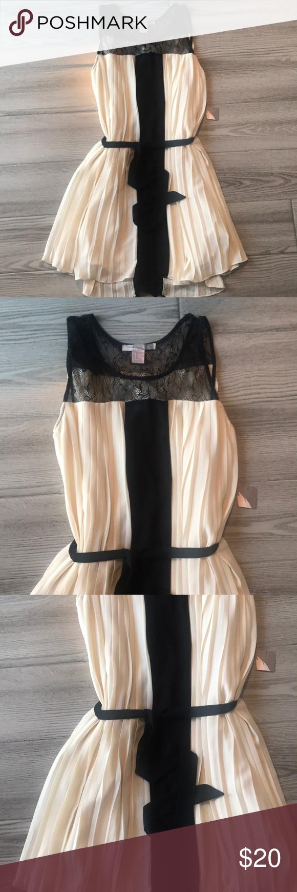Cream And Black Dress Black Dress Cream Dress Dresses [ 1740 x 580 Pixel ]