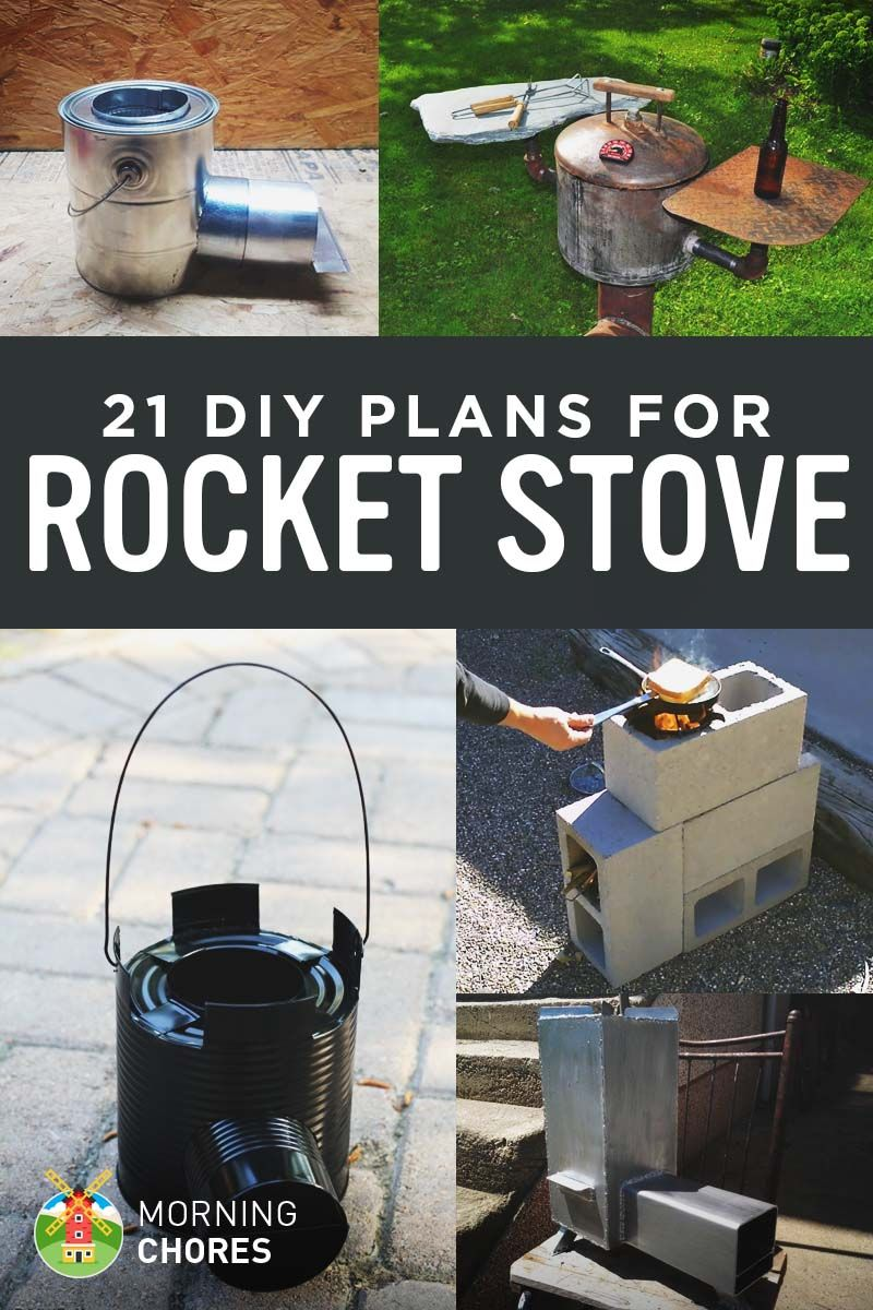 21 free diy rocket stove plans for cooking efficiently for Rocket stove heater design