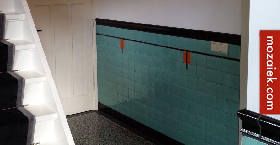 poolster jaren 30 woning hilversum tegels van mozaiek.com op vloer ...