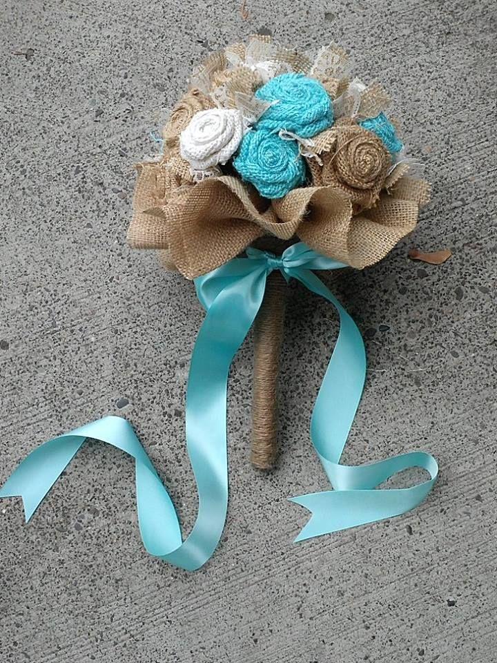 Burlap & Lace Bouquets / Flowers Ideas for Weddings | Burlap wedding ...