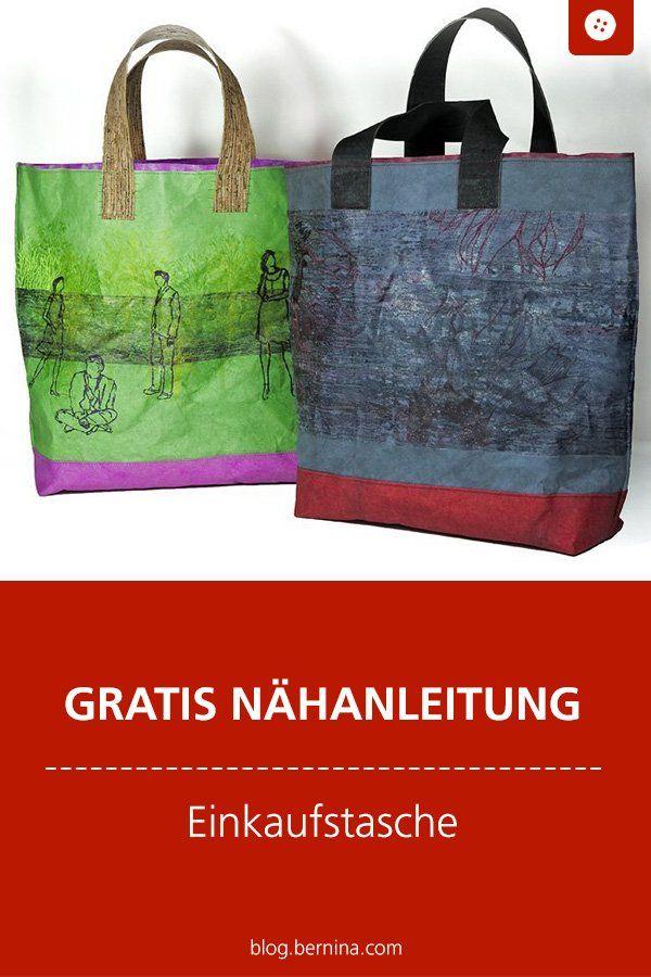 Anleitung Einkaufstasche aus kulörtexx - auch schön für die Umwelt #diytutorial