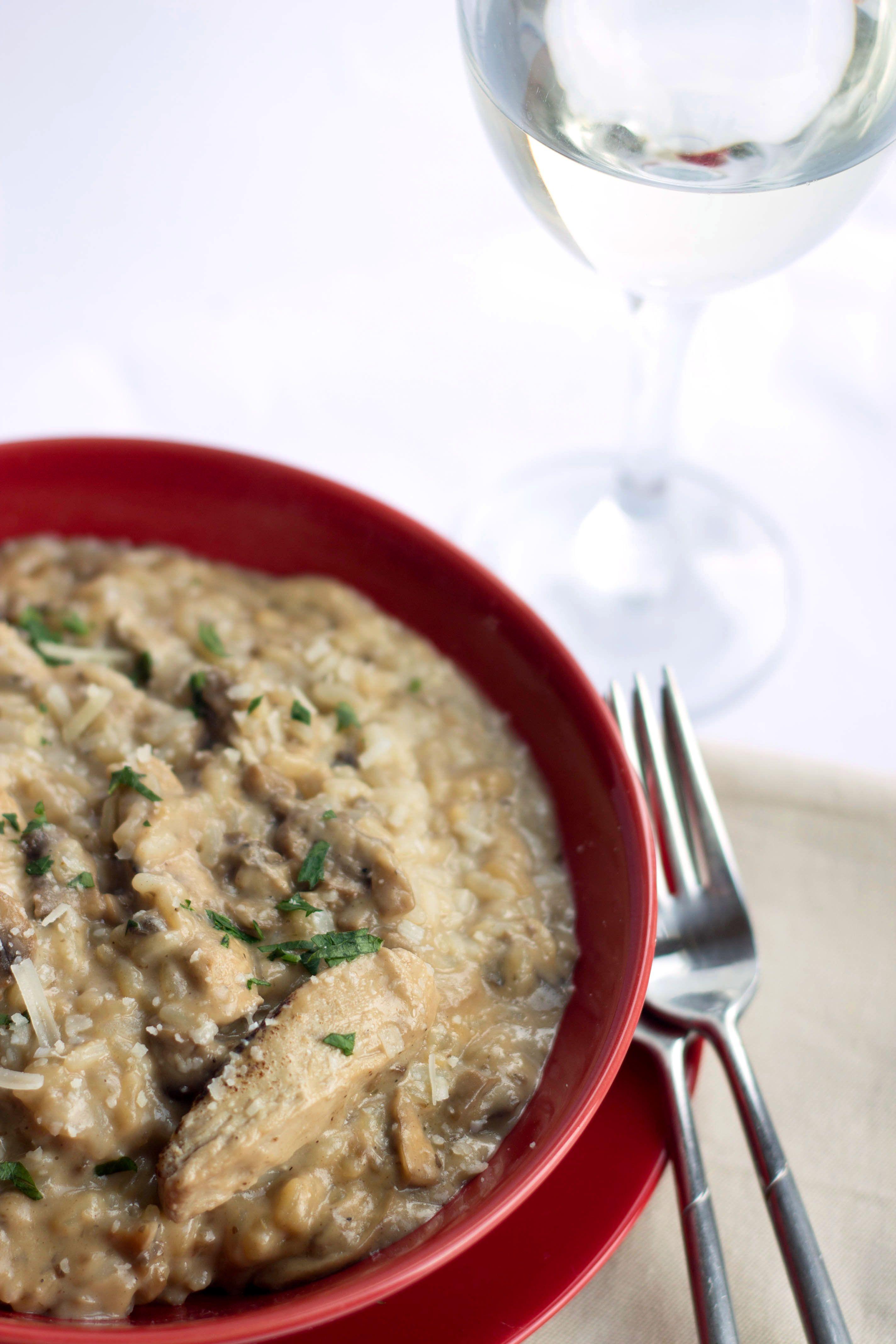 Chicken Mushroom Risotto Recipe Recipes Stuffed Mushrooms Cooking Recipes