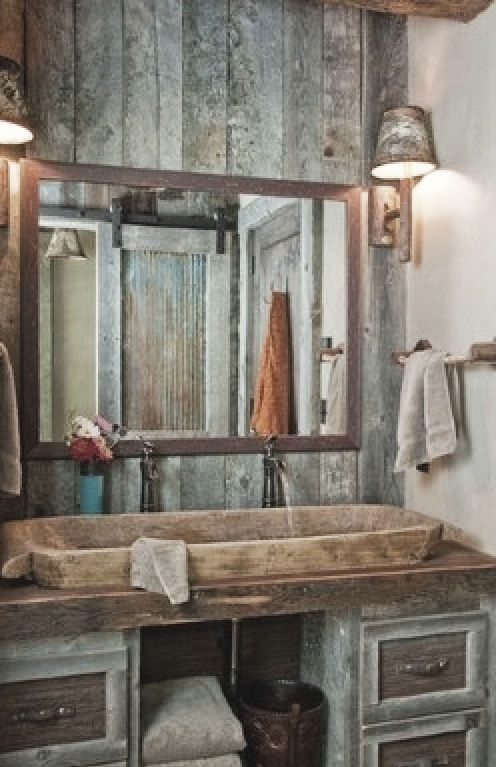Pin de Baer Ayre en Interior design Pinterest Rústico, San - lavabos rusticos