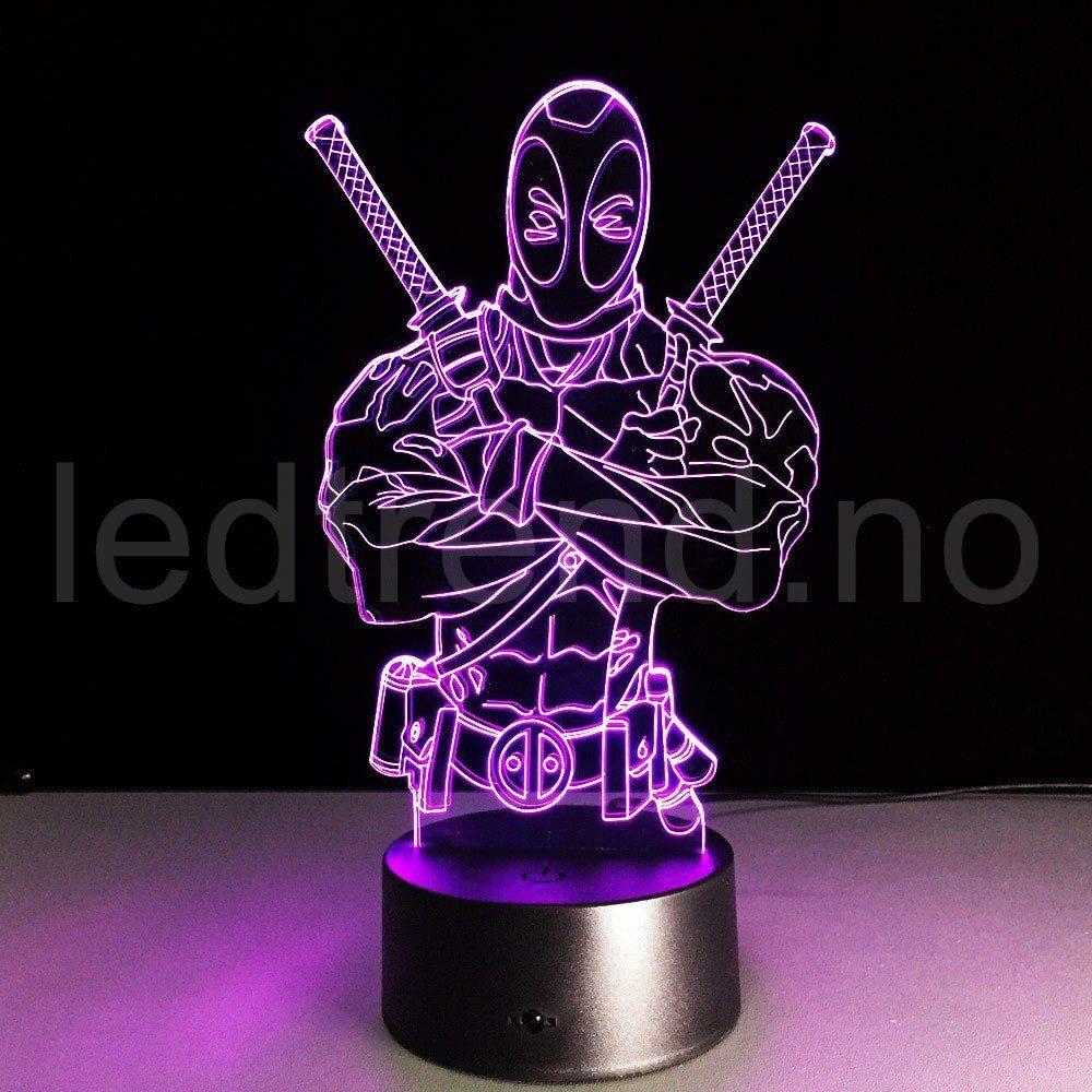 wohnzimmerlampen trend : Ninja 3d Trend Lampen Unik 3d Lampe Med Led Lys Som Gir Det