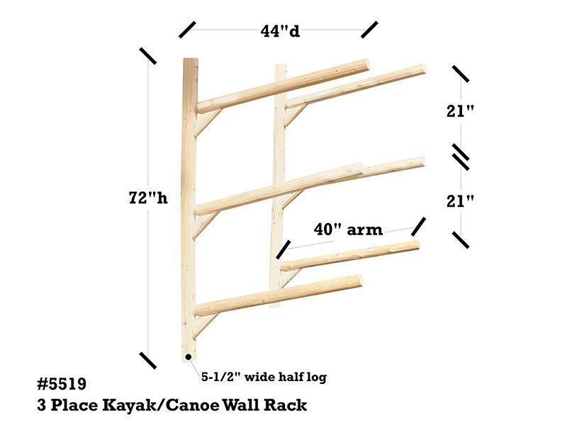 3 place kayak rack wall mount kayak