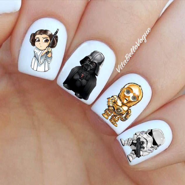 Star Wars Nail Decal, Darth Vader,Nail Designs, Disney Nail Art ...