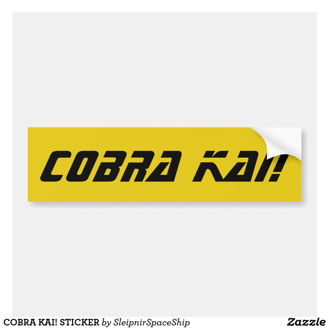 Cobra Kai Sticker Bumper Stickers Stickers Custom Holiday Card [ 1106 x 1106 Pixel ]