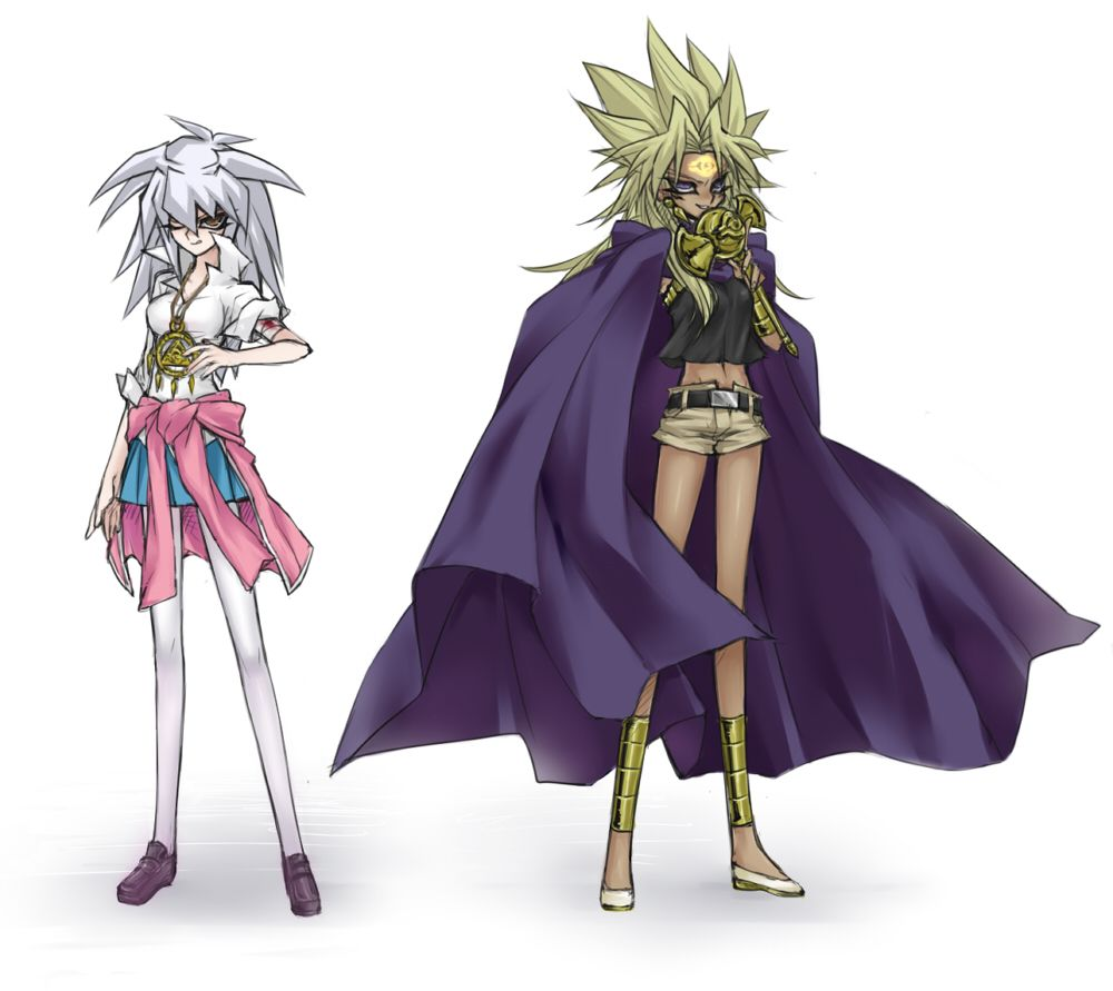 man i love this artist yami bakura and marik female version yu