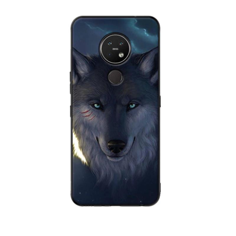 ل كوكه نوكيا 7 2 حالة سيليكون رسمت لينة أسود Tpu عودة غطاء لعلامة نوكيا 6 2 جراب هاتف Nokia6 2 Nokia7 2 2019 قذيفة الوفير على Aliex Phone Phone Case Cover Case