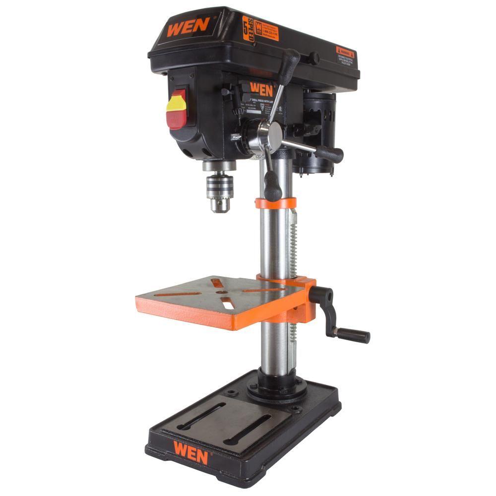 Wen 10 In Drill Press With Laser Drill Press Drill Press Table Drill