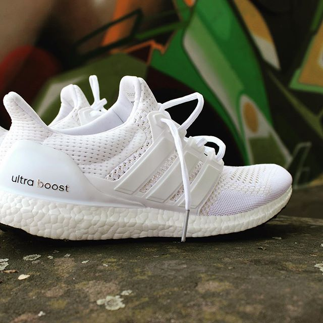 Adidas Ultra Boost Triple White Shooting Beautiful Sneaker Graffiti Love This Shoe Our Boostblog Comming Soon Tribute T Sneakers Shoes Adidas