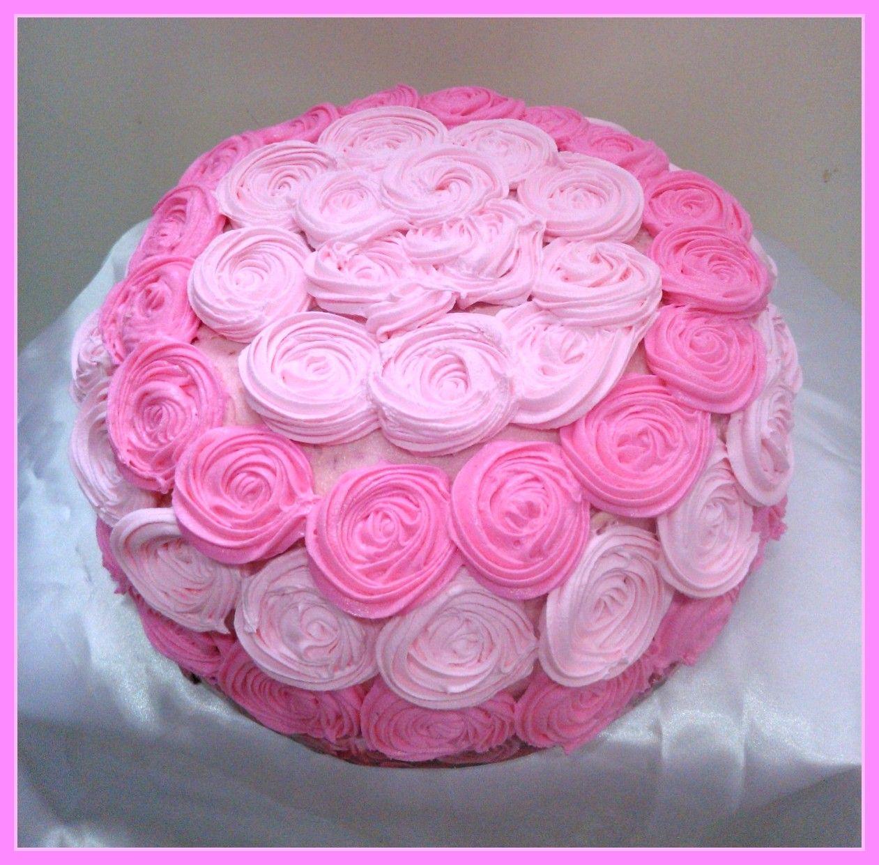 Pastel Decorado Con Rosas